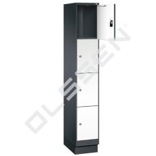 EVO Volkern / HPL locker met 4 smalle vakken