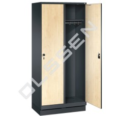 EVOLO Houten kledinglocker voor 2 personen - breed model (MDF)