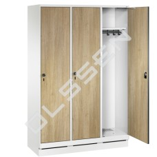 EVOLO Houten kledinglocker voor 3 personen - breed model (MDF)