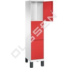 EVOLO Luxe 3-vaks Locker met grote vakken