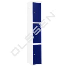 CAPSA Metalen Locker met 3 vakken (Smalle vakken)